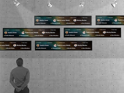 Animated Donor Recognition Concept for Digital Signage