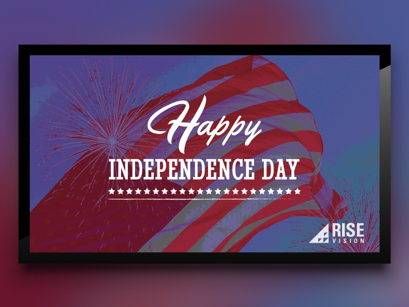 Independence Day Template for Digital Signage template holiday usa independence day digital signage