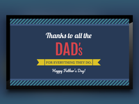 Fathers Day Template for Digital Signage