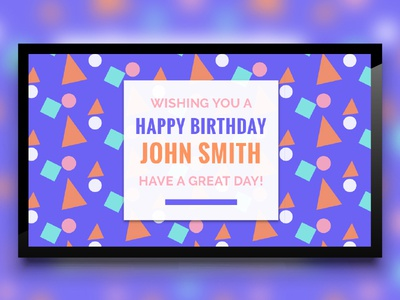 Birthday Template for Digital Signage