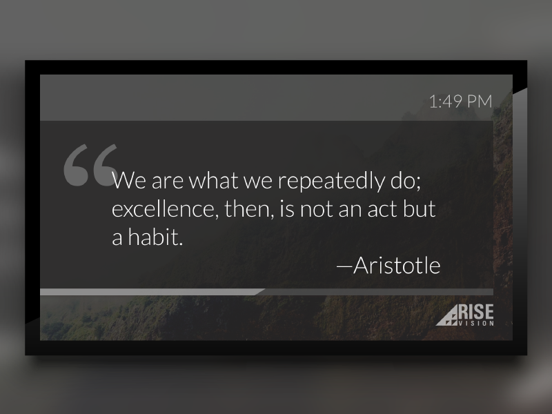 Quote of the Day Template for Digital Signage widget template digital signage image html css testimonial quote quote of the day qotd