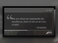 Quote of the Day Template for Digital Signage