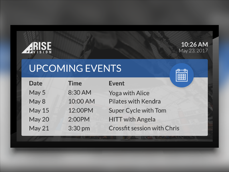 event template for digital signage by sonia darlison for rise vision on dribbble