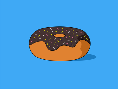 Donut illustration vector flat