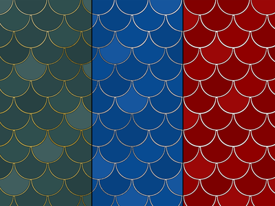 Mermaid, Fish, and Dragon Scales surface design pattern surfacedesign surface pattern design society6 illustration flat graphic design design scales