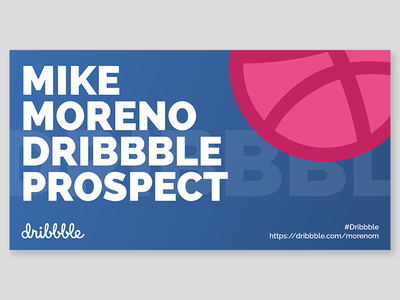 Dribbble Business Card flat typography design business card graphic design