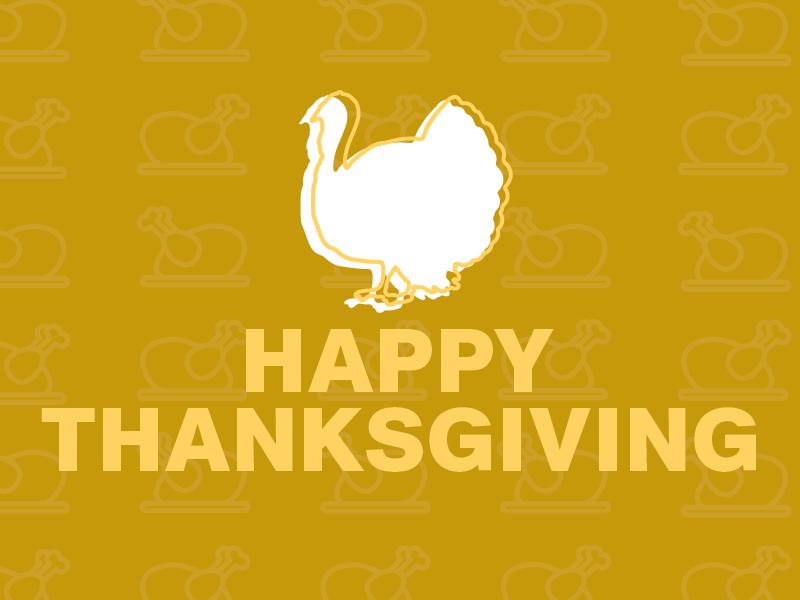 Happy Thanksgiving flat type graphic design design typography turkey thanksgiving