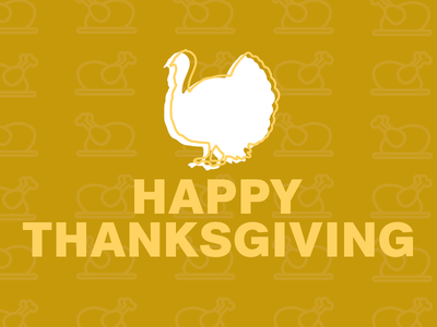 Happy Thanksgiving flat type graphic design design typography turkey thanksgiving