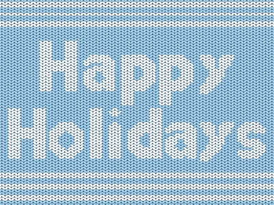 Happy Holiday sweater flat vector illustration graphic design type typography design