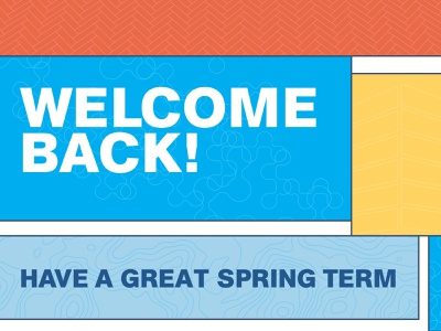 Welcome Back! type flat graphic design typography design
