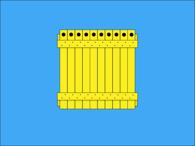Yellow Crate flat box crate yellow vector illustration