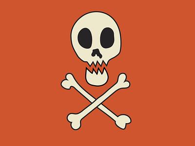 Skull & Crossbones skull logo skull and crossbones skull halloween vector illustration flat