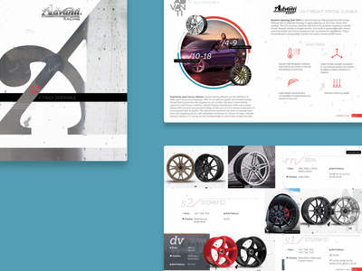 Advanti Racing –Layout Study typography design branding