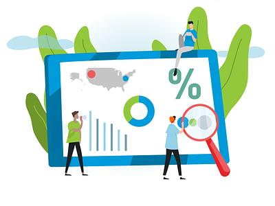 Survey eBook - Illustration vector illustration branding design