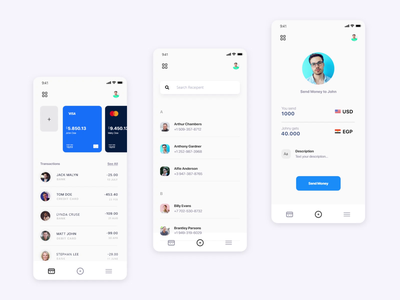 Zivmi / Global Payment ux design ui design payment app finance bank payment application simple clear app design mobile app app mobile art product ux ui design