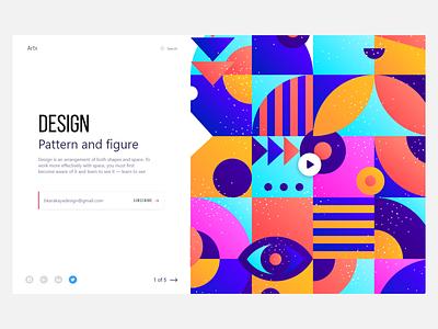 Design Pattern pattern website illustration simple clear color webdesign product art site web flat ux ui design