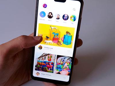 Photographer Social creative flat social media social app social photographer photograph color product ux ui design animation motion application app design app