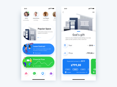 Promotion-pop gradient work charater typography popular card illustration icon interaction concept details app ux ui creative