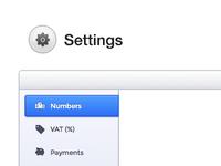 Settings UI