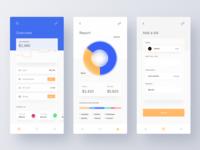 Budget and Expense Manager App mobile app money app form bill chart fluent design app design application fintech money finance app design minimal ui  ux ui clean