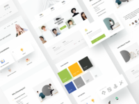 Stock Photo Agency Website 2 color palettes components ui library design system clean company webdesign uiux uidesign design agency website header