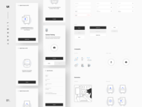 Sparkpoint UI Library 01 mobile app design ui  ux onboarding screen ui library components design system onboarding app minimal ui clean