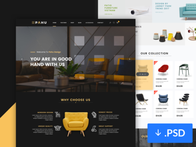 Freebie PSD: Interior Design Website Template