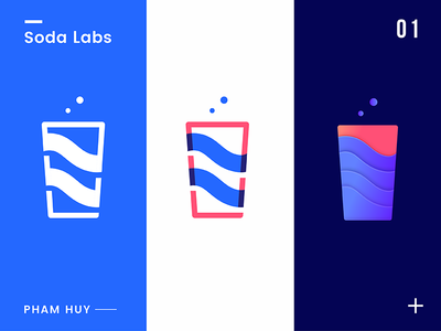 Logo Concept for Soda Labs water cup soda trendy company vibarant identity branding logotype logo