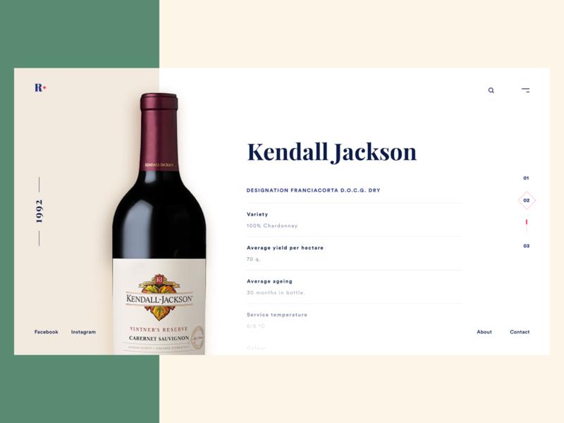 Wine Shop Website Details website ui clean design typography wine web homepage header landingpage minimal ui  ux