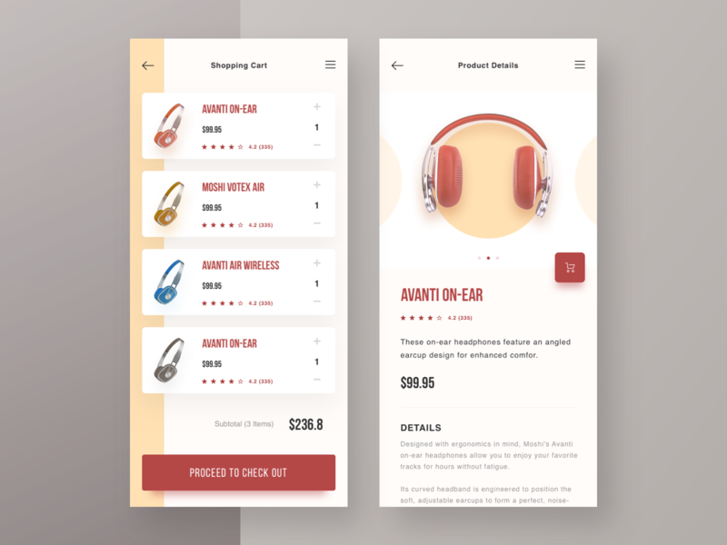 Moshi Headphone App website ui blue design minimalism web headphone shop store product header retro clean e-comerce cart