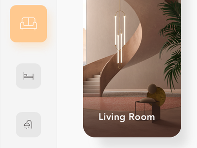 Smart Home App house yellow decoration lamp light smart home app smart home app home interior minimal clean ui ui  ux