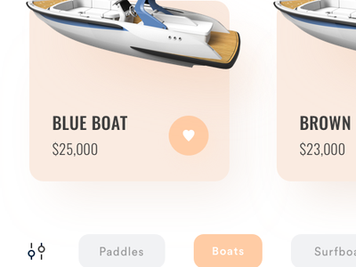 Boat Shop App brown orange ecommerce app shopping app checkout product app clean minimal ui ui  ux payment cart store shop ecommerce boat