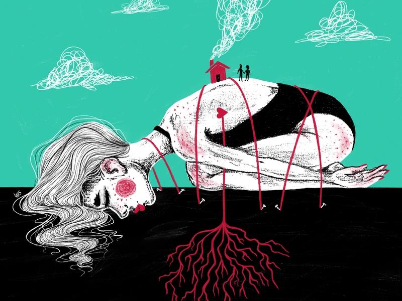 Root Girl procreate girl illustration