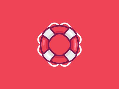 Life buoy simple illustration icon life buoy
