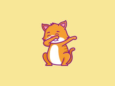 Dabbing Cat