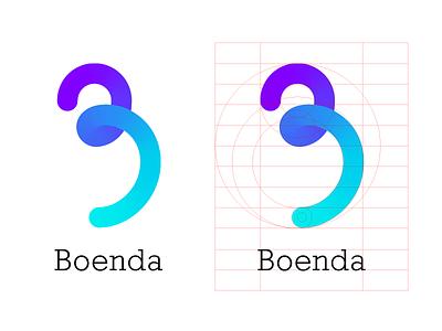 Boenda Logo rockwell gradient logo design