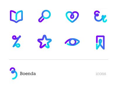 Boenda icons flexible gradient icon design