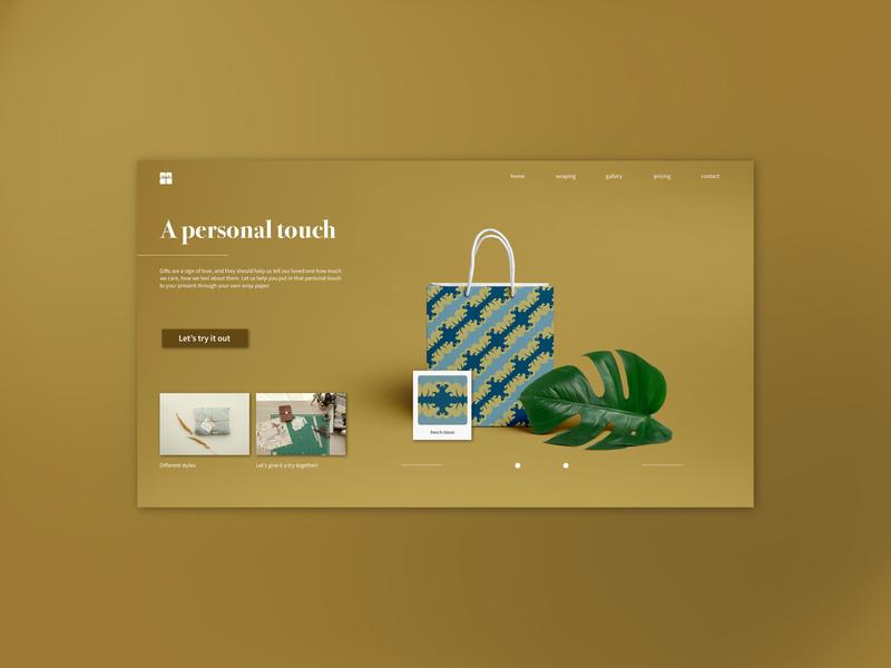 Daily UI 03 -- Landing page ui app concept uiux ui design dailyui