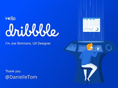 Hello Dribbble 800x600 designer design machine thanks ui design ux design thank you hi dribble debut