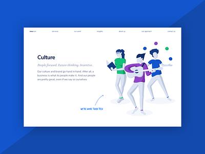 Culture Page Illustration corporate culture cultures web design website design illustration agency culture company culture business culture culture