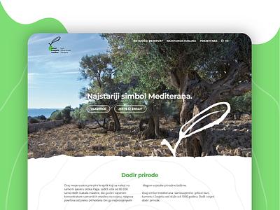 Lun Olive Gardens - Landing Page croatia nature tourist tourism ui design web web  design