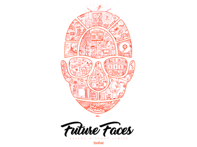 Future Faces project future print drawn design