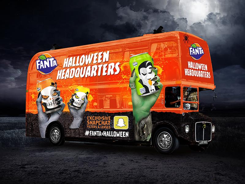 Fanta Halloween Headquarters fanta concept halloween bus design