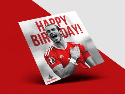 Happy Birthday Bale! print concept graphic design football