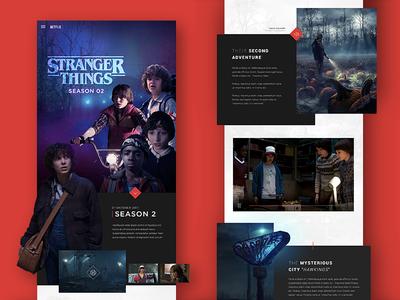 Stranger Things stranger things concept website ux design netflix