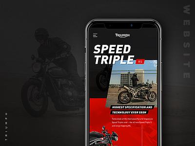 Triumph website concept webdesign website motor responsive concept ui design triumph