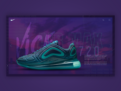 Nike Air Max 720 Vice nike air shoes shoe design vicecity vice website design sneakerheads sneakers 720 airmax nike shoe visual concept webdesign ux website visual design ui design