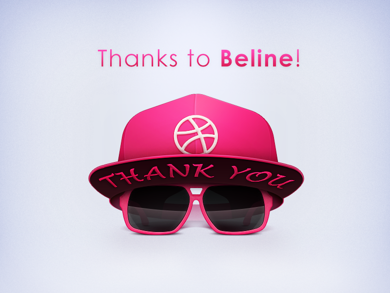 Debut shot thanks debut hello dribbble hat sunglasses