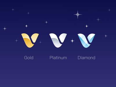 VIP icons for different membership levels