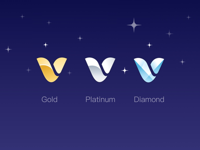 VIP icons for different membership levels icons,sketch,finance